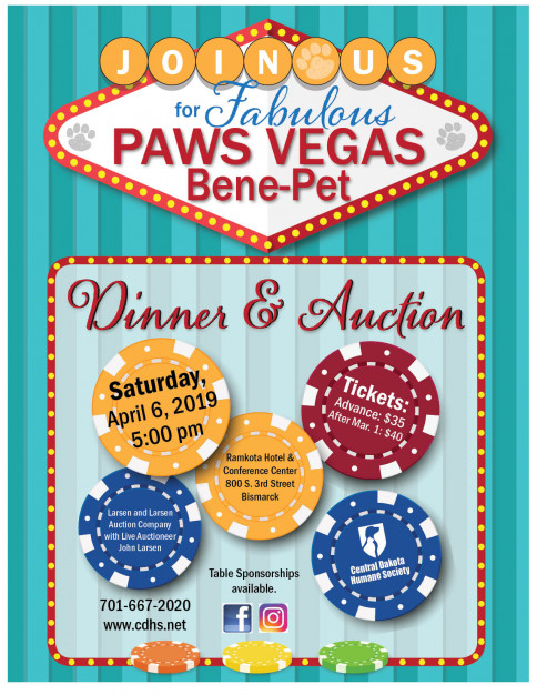 Join us for Fabulous Paws Vegas Bene-Pet Dinner and Auction
