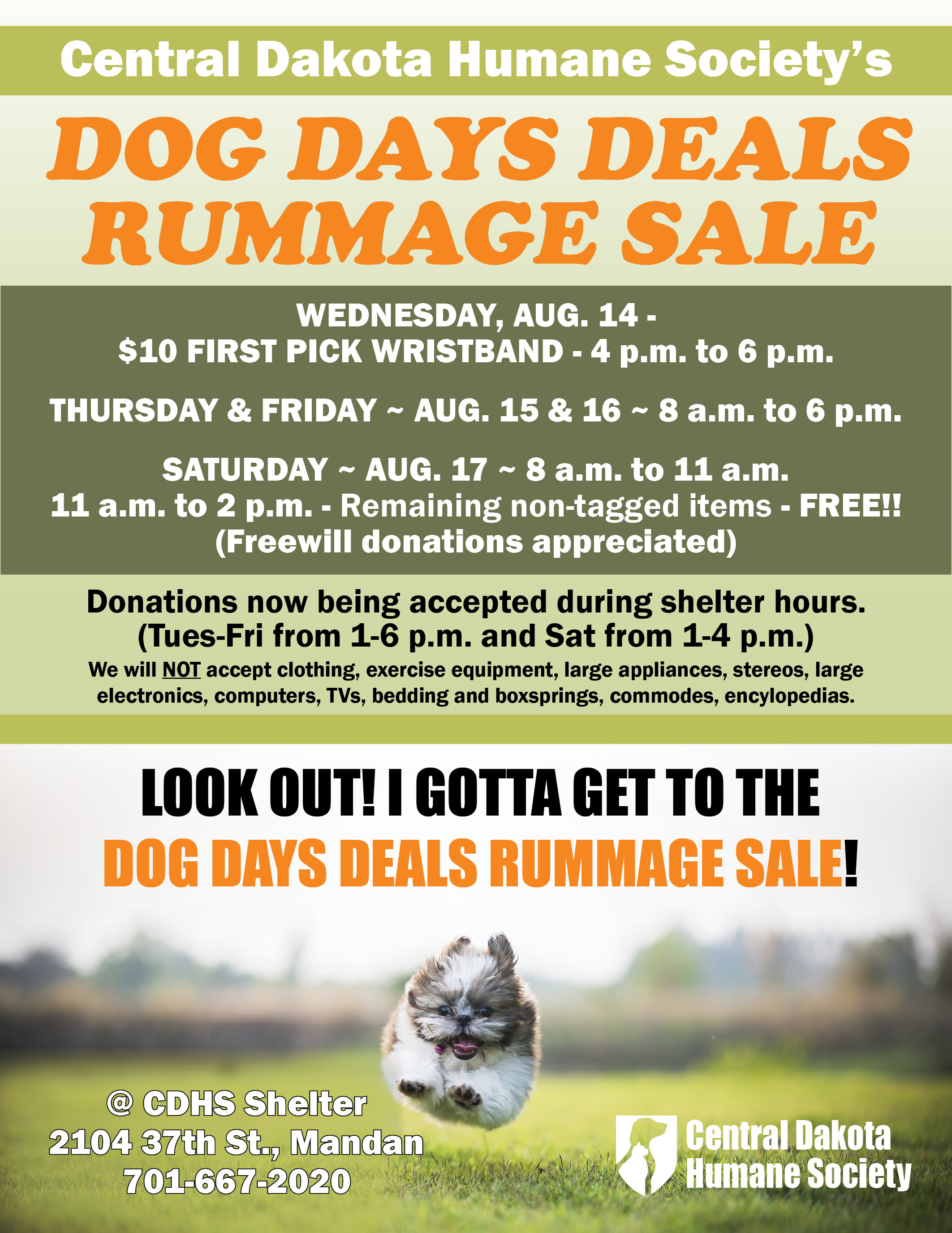 Rummage Sale | Central Dakota Humane Society