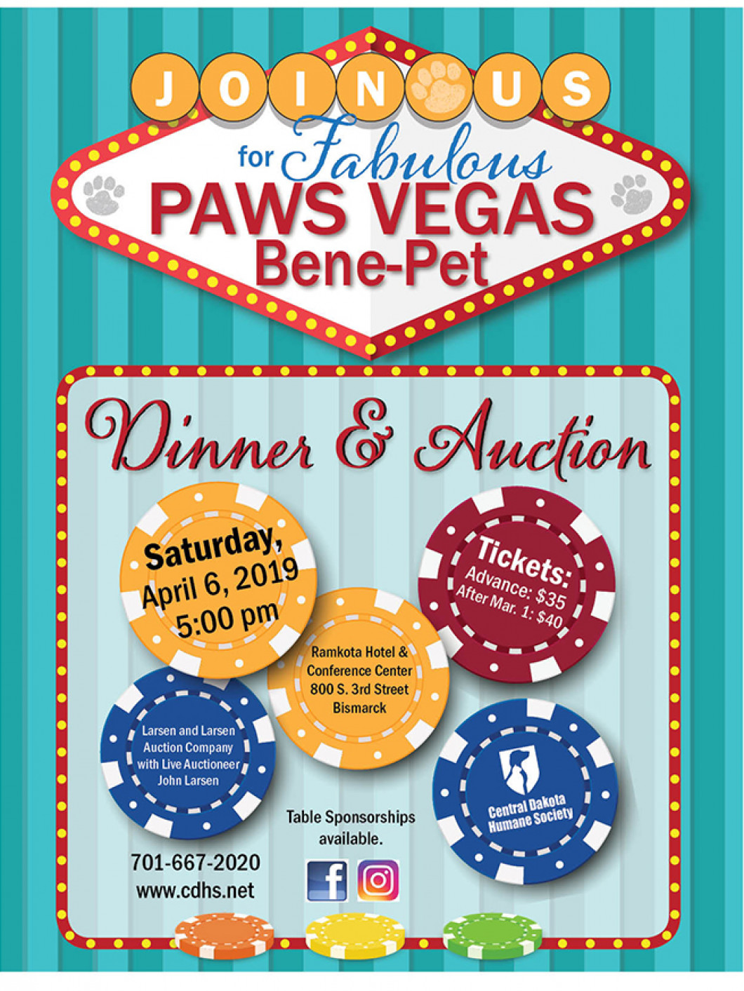 Join us for the Fabulous Paws Vegas Bene-Pet Dinner and Auction!